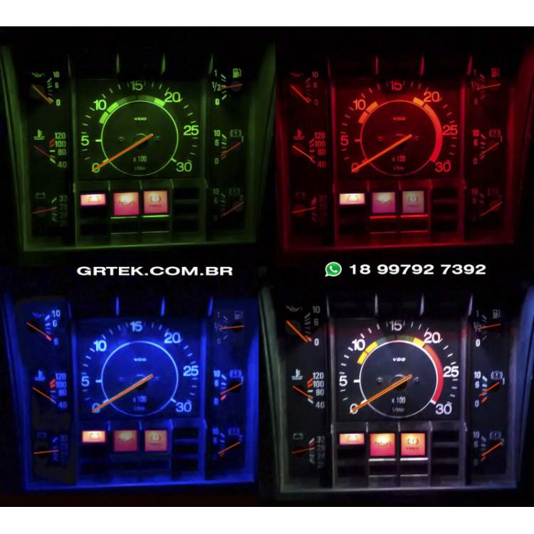 Iluminação Scania Multicolor Painel Reto