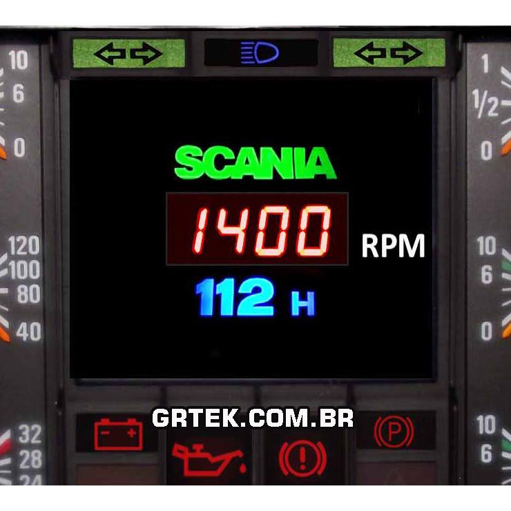 Conta Giro SCANIA 112 - 142 - 113(Painel Reto) + Iluminação Multicolor